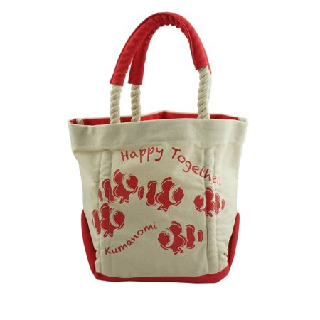 Womens Heavy Duty Canvas Tote Bag Cotton Handbag Red Small
