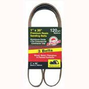 3-Pk., 1 x 30-In. 120-Grit Bi-Directional Sanding Belt