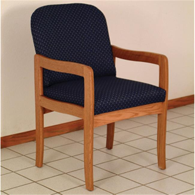 Wooden Mallet DW9-1MOAB Prairie Guest Chair in Medium Oak - Arch Blue