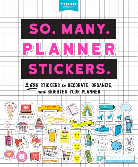 Words And Icons Words And Icon Stickers Splash Pad WI0283 Matte Sticker Paper, Multi Color Planner stickers Multicolor