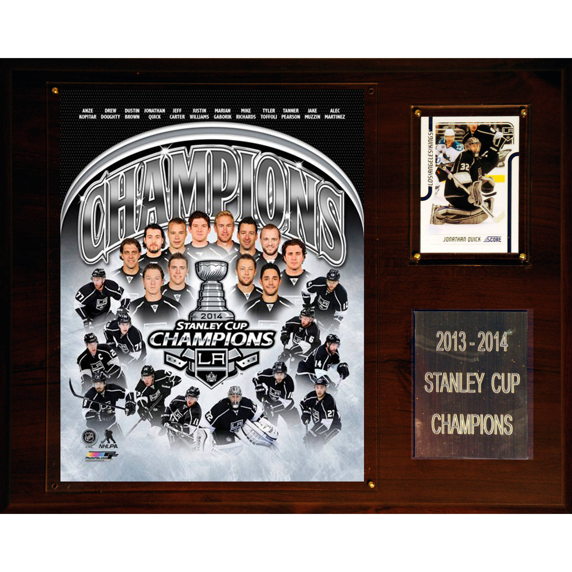 C&I Collectables NHL 12x15 Los Angeles Kings 2013-2014 Stanley Cup Champions Plaque