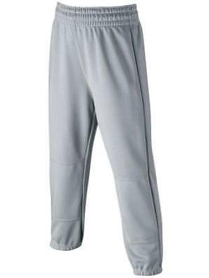 Wilson Elastic Waist Baseball Pants, YOUTH, Gray, X-Small