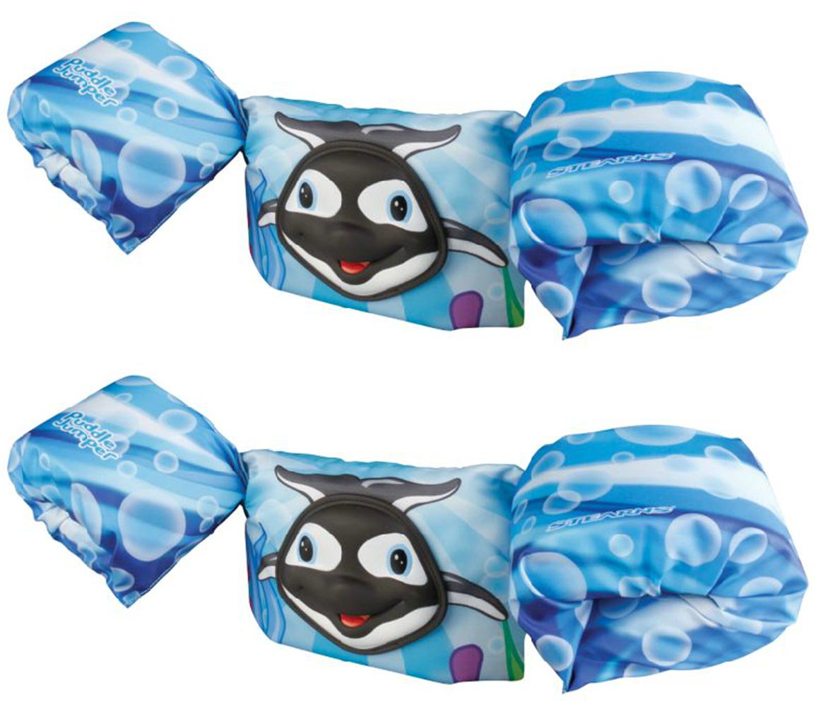 New (2) COLEMAN Stearns Kids 3D Puddle Jumper Swimming Life Jackets   Blue Whale by Stearns