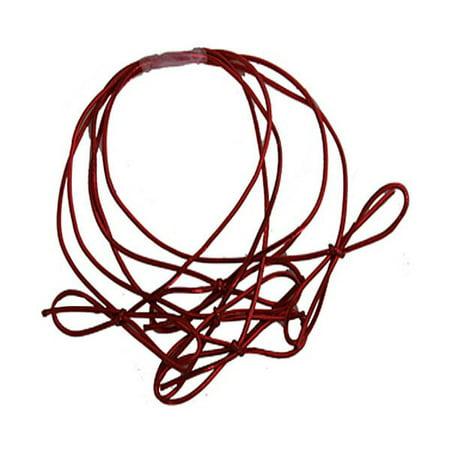 """JAM Paper Elastic String Tie, Medium, 16"""" Loop, Red Metallic, Packs of 5"""