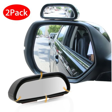 TSV 2PCS 360° Wide Angle Side Rear Mirrors Blind Spot Snap Way Car Rear View