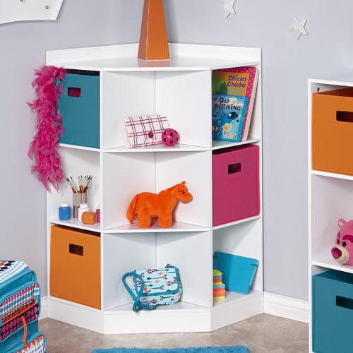 RiverRidge Kids 6-Cubby, 3-Shelf Corner Cabinet