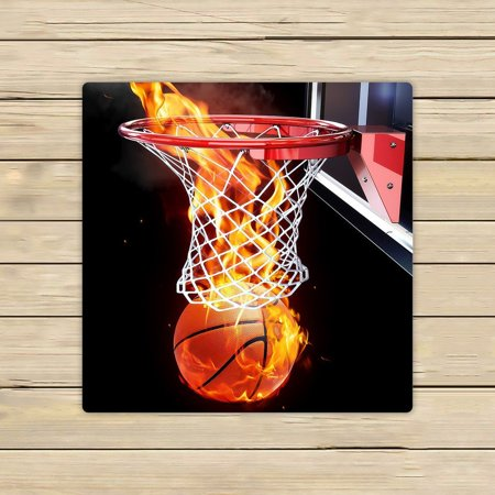 - GCKG Flaming Basketball Hand Towel,Spa Towel,Beach Bath Towels,Bathroom Body Shower Towel Bath Wrap Size 13x13 inches