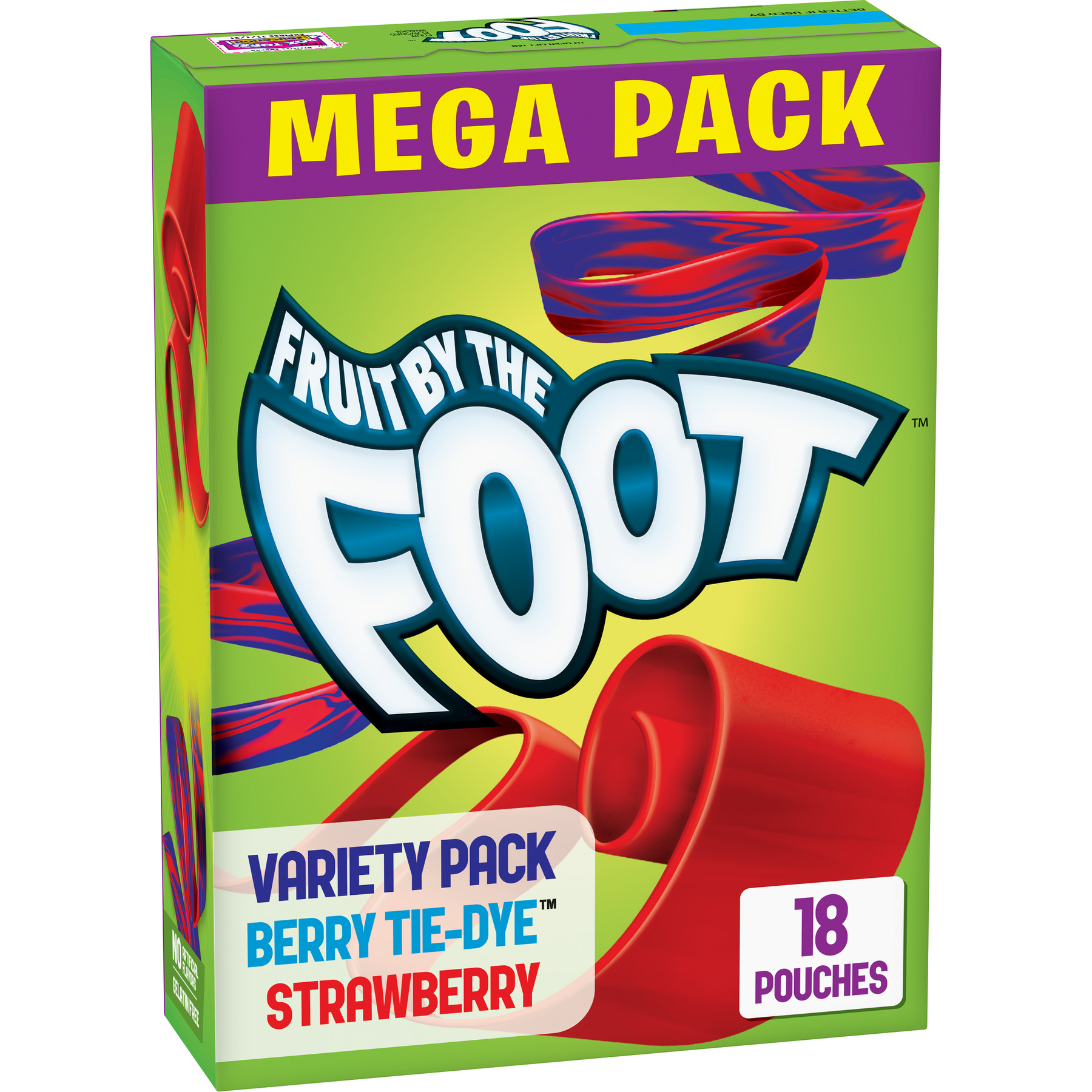 Betty Crocker Fruit By The Foot Strawberry Berry Fruit Snacks Variety Pack Pouches, 0.75 Oz., 18 Count