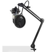 Blue Microphones Yeti Slate USB Mic with Knox Studio Arm, Shock Mount and Filter