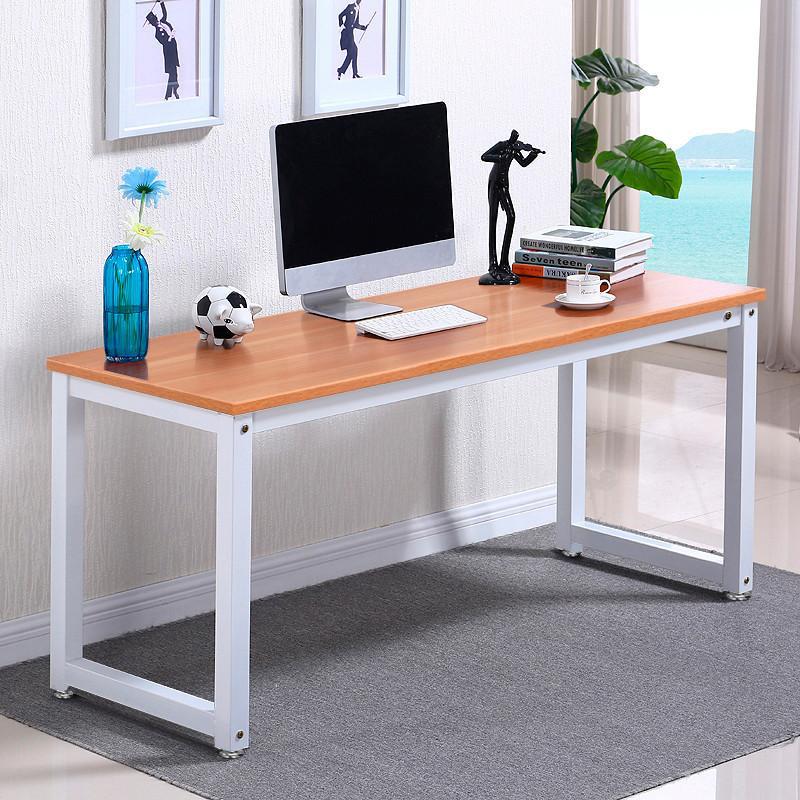Yaheetech Modern Simple Design Home Office Desk Computer Table Wood Desktop  Metal Frame Study Writing Desk Workstation