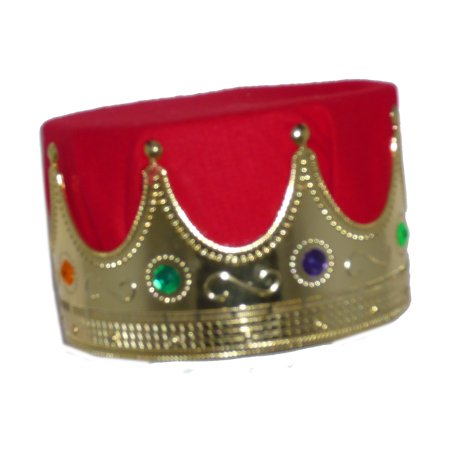 King and Queen Crowns - Gold Only, Kids (King And Queen Costumes)