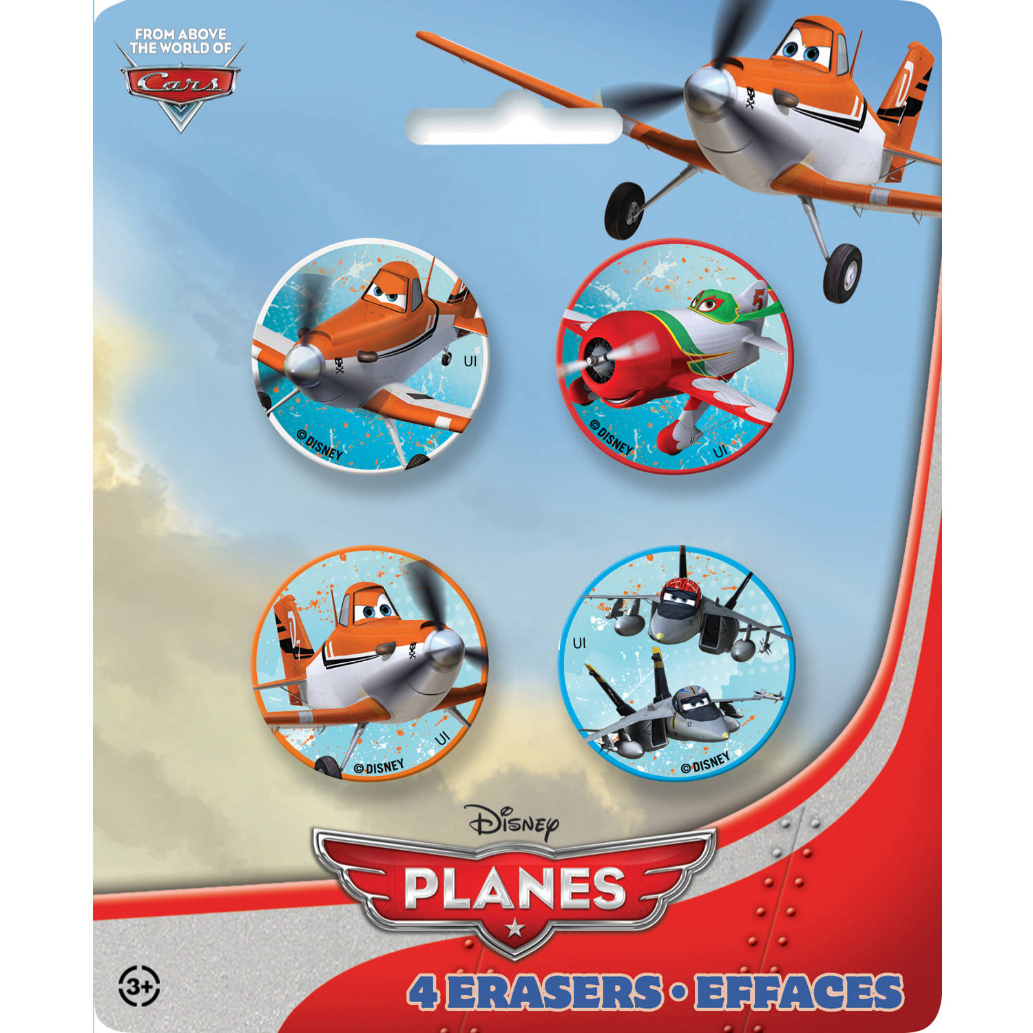 Disney Planes Eraser Party Favors, 4-Count