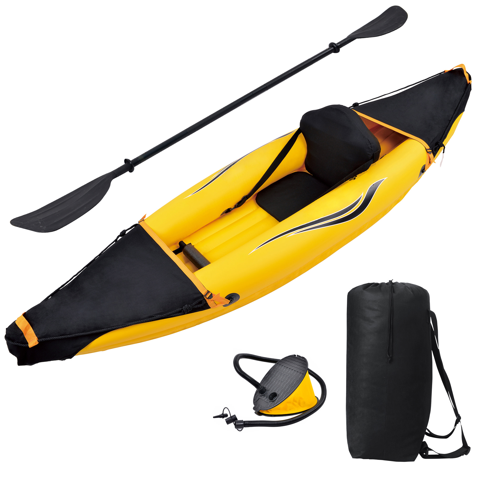 Blue Wave Sports Nomad 1-Person Inflatable Kayak by Blue Wave Products