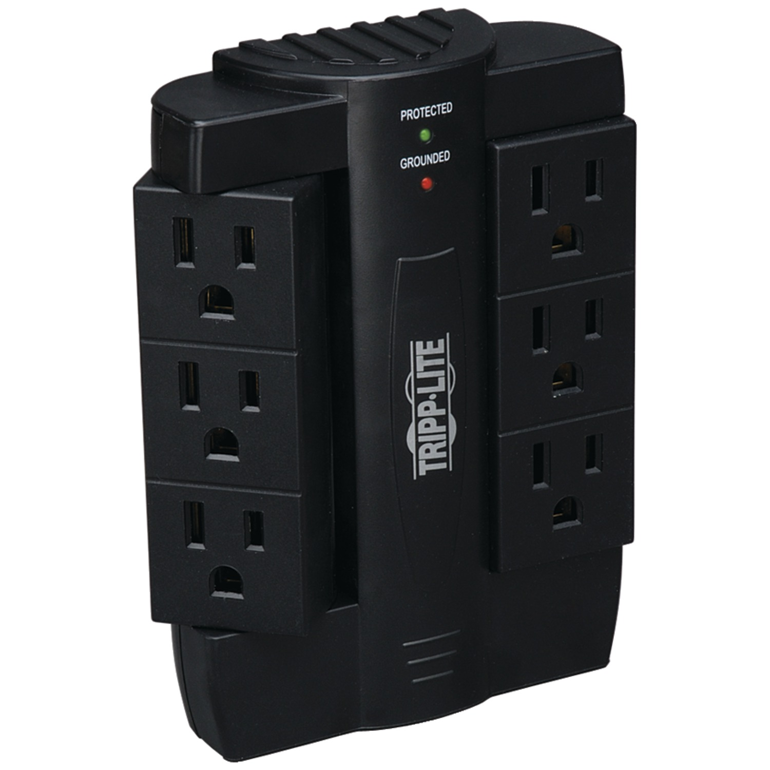 Tripp Lite SWIVEL6 Direct Plug-in Surge Protector With 6 Rotatable Outlets (1,500 Joules) & Tripp Lite SK3-0 Direct Plug-in 3-Outlet Surge Protector