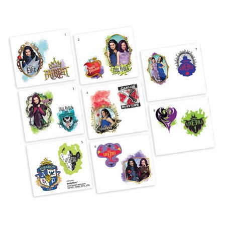 Descendants tattoos 16 tattoos party supplies for Tattoo party ideas