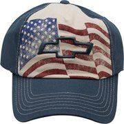 "Chevy Cherolet American Flag ""Americana Series"" Adult Men's Adjustable Cap Hat"