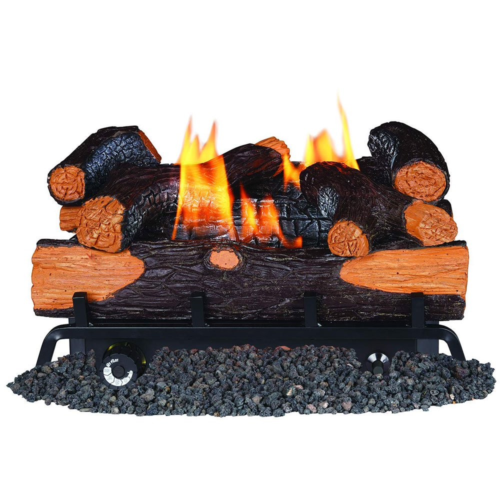 Remington 18 Inch Smokey Mountain Hickory Vent Free 30,000 BTU Natural Gas Logs
