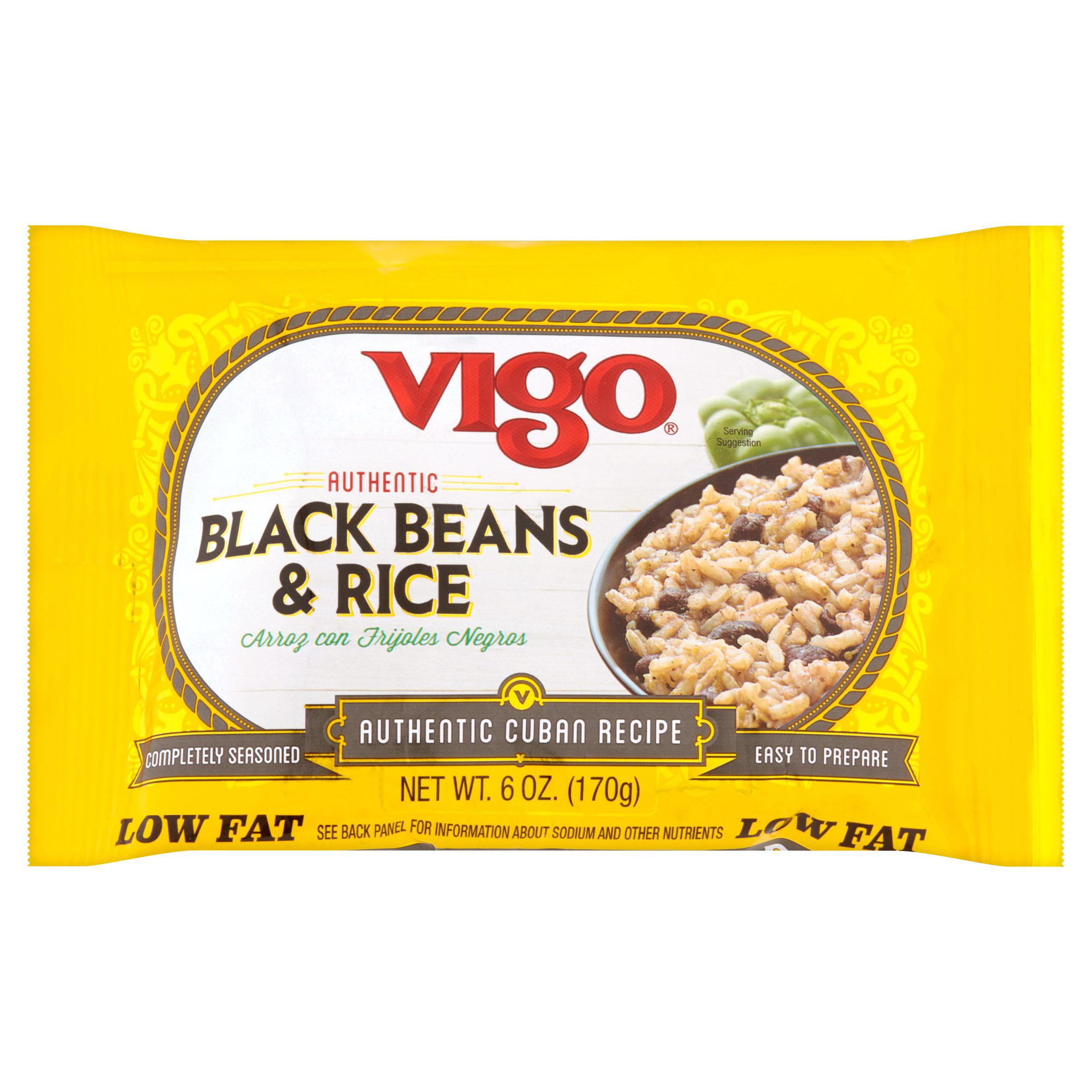 Vigo Authentic Cuban Recipe Black Beans & Rice, 6 oz by Vigo Importing Company
