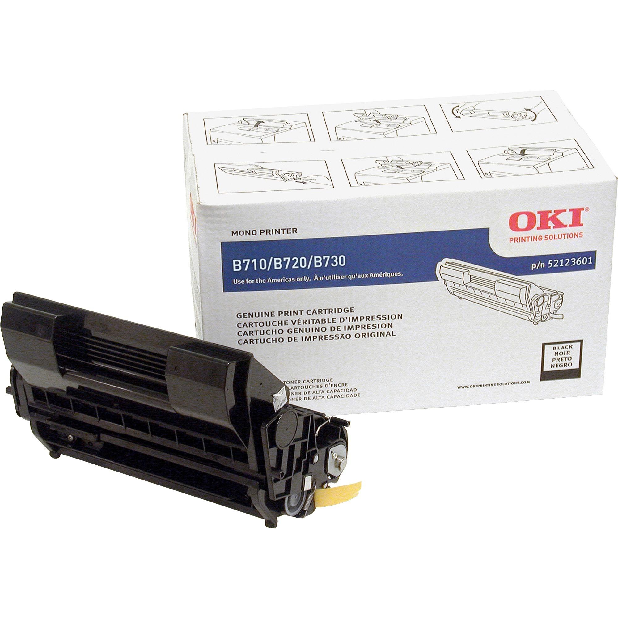 Oki, OKI52123601, 52123601 Toner Cartridge, 1 Each