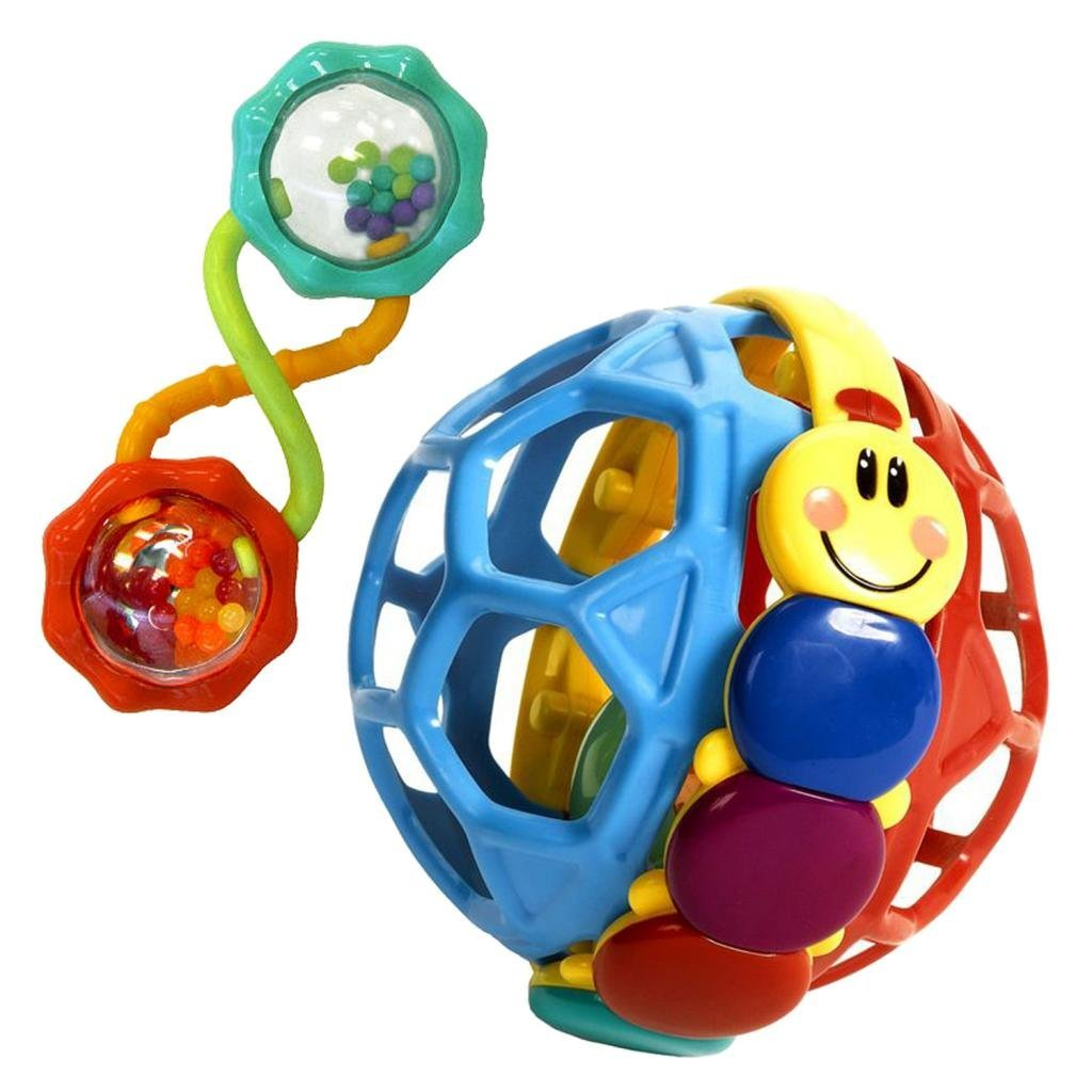 Baby Einstein Bendy Ball Rattle & Rattle and Shake Barbell by Baby Einstein