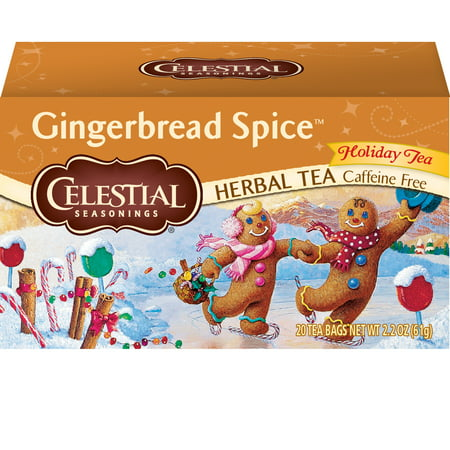 (2 Pack) Celestial Seasonings Herbal Tea, Gingerbread Spice, 20 Count
