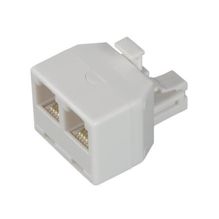 (AmerTac - Zenith TS1001SPJ2W TS1001SPJ2W 6 Conductor Duplex Jack, White Landline Telephone Accessory)
