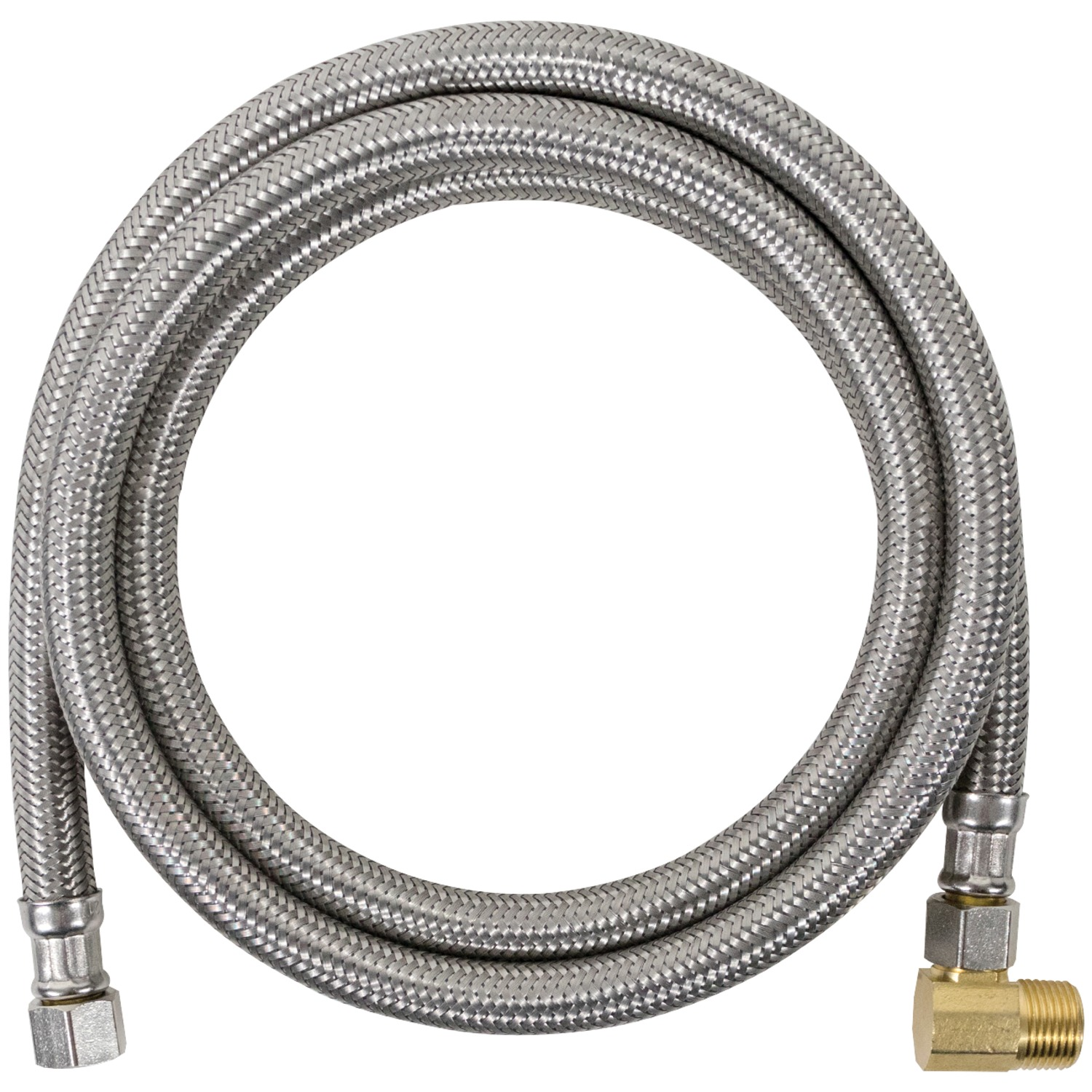 Certified Appliance DW72SSBL Braided Stainless Steel Dishwasher Connector with Elbow, 6'