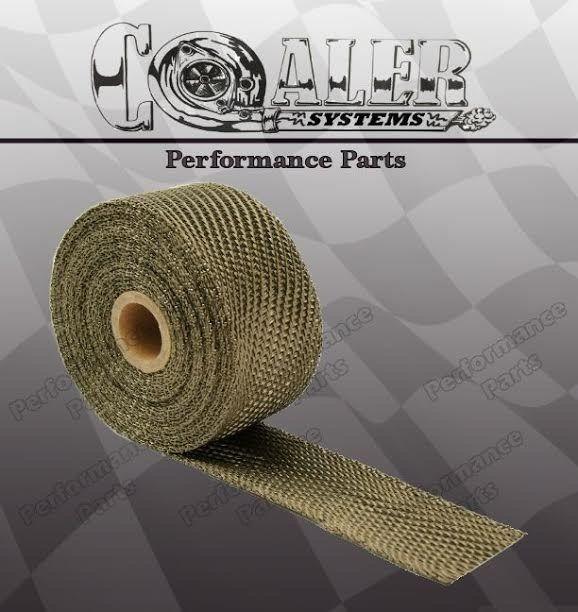 "Cafe Bobber Motorcycle Exhaust Pipe Muffler Wrap Titanium Lava Rock 50/' x 2/"""