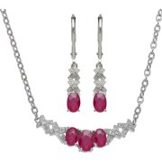 Created Ruby And Diamond Accent 2 Piece