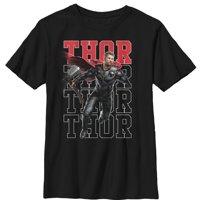 Marvel Boys' Avengers: Endgame Thor Repeat T-Shirt