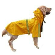 Multi Size Hooded Large Size Dog Raincoat Pet Rain Coat Two Legs Reflective Stripe Pet Supplies Puppy Hoodies
