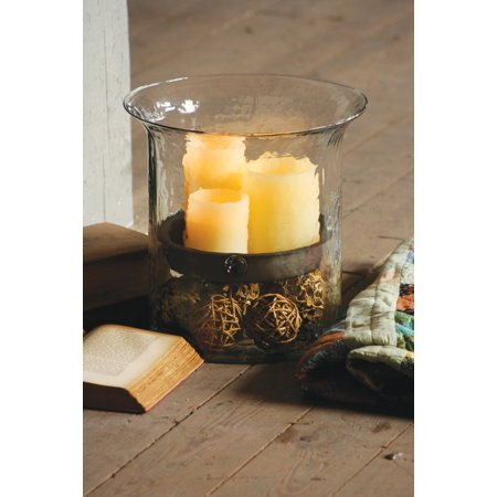 GwG Outlet Giant Glass Candle Cylinder with Rustic Insert CV1060