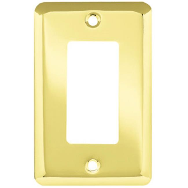 Liberty Hardware W10251-PB-U Polished Brass Stamped 1 Gang Decorator Plate - image 1 de 1