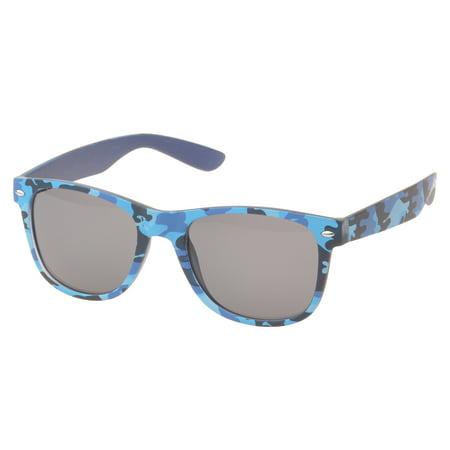 MLC Eyewear Duarte Retro Horn Rimmed Fashion Sunglasses in Blue