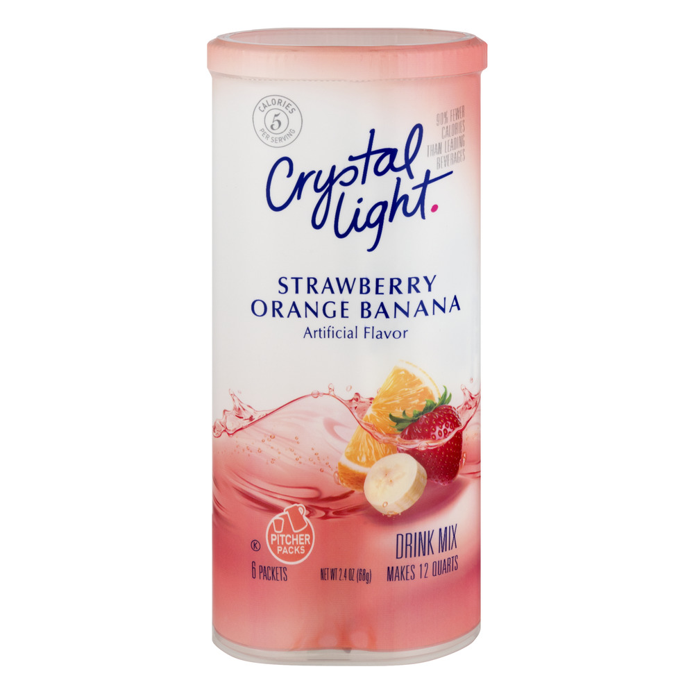Crystal Light Drink Mix Strawberry Orange Banana - 6 CT