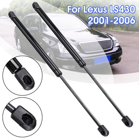 2pcs Pair Front Hood Bonnet Charged Lift Support Struts Shock Rod Arms Gas Spring For 2001-2006 Lexus LS430