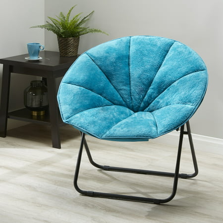 Mainstays Folding Plush Saucer Chair, Multiple