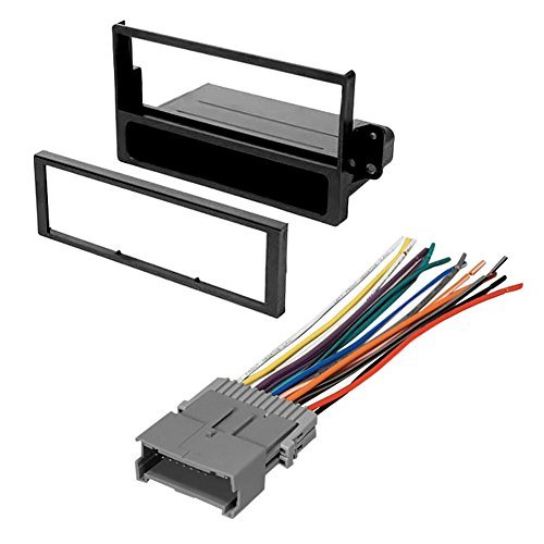 CAR STEREO RADIO KIT DASH INSTALLATION MOUNTING TRIM BEZEL W/ WIRING HARNESS FOR SELECT SATURN VEHICLES