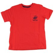 Beverly Hills Polo Club Little Boys' Red V-Neck T-Shirt