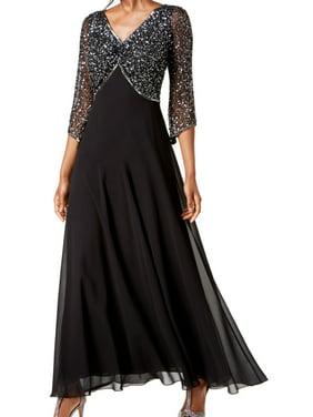 Sequined Floor-Length Dress