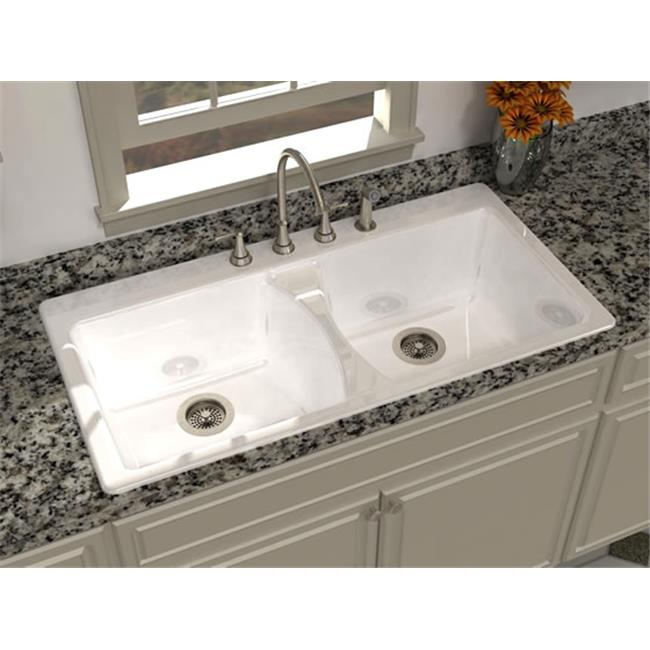 SONG S-8630-4-61 Harmony 43 x 22 In. Kitchen Sink - Biscuit
