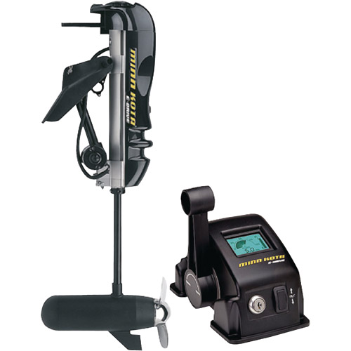 "Minn Kota E-Drive Transom Mount Electric Outboard, Shaft 20"", Thrust 2 HP, 48V"