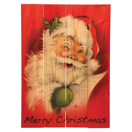 old fashioned merry christmas santa claus wooden sign 14 x - Merry Christmas Wooden Sign