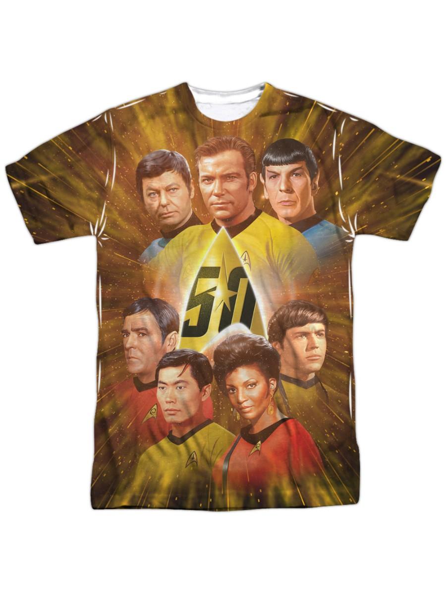 Star Trek Series 50th Anniversary Classic Crew Adult Front Print T-Shirt