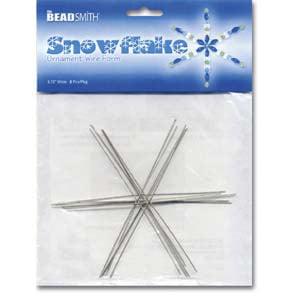 Metal Wire Snowflake Forms - Fun Craft Beading Project 4 1/2 (Fun Craft Beading)