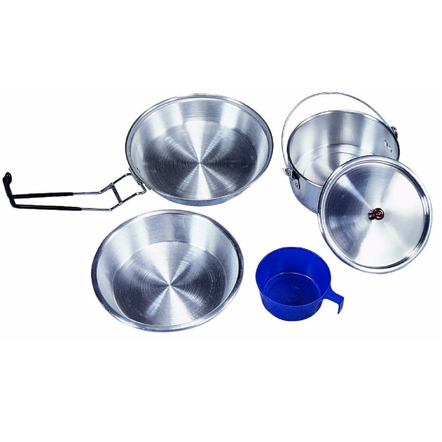 Mess Kit, 1-Man Aluminum, Polished