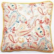 Corona Dcor Corona Decor Bali Collection Paisley 18-inch Throw Pillow
