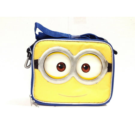 Minion Lunch Box (Lunch Bag - Despicable Me - Minions Face Jerry 3D Eyes Kit Case New)