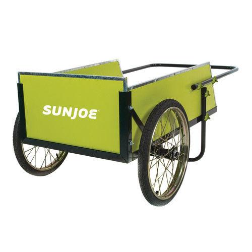 sun joe sjgc7 7 cubic foot heavy duty garden utility cart