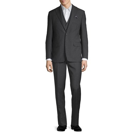 Pinstriped Wool-Blend 3-Piece Suit